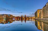 Постер, плакат: The River Spree in Berlin at dawn