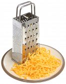 Grated cheese with box grater