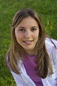 stock photo of pretty girl  - A pretty girl - JPG