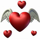 Corações do dia dos Namorados