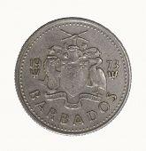Постер, плакат: Барбадос 10 центов монета