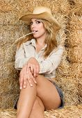 stock photo of country girl  - Country Girl - JPG