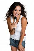 Hispanic Girl Singing