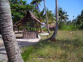 Hut In Remote Village In Bintan Indonesia