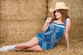 Country Girl in Hay