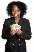 Black Businesswoman Holding Money