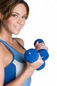 picture of weight-lifting  - Healthy Fitness Woman Working Out - JPG