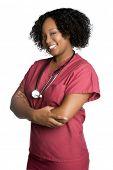 Isolated Black Nurse
