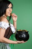picture of saint patricks day  - Pot of Gold Woman - JPG