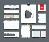 Постер, плакат: Big collection of office paper