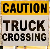 Caution Truck Crossing