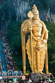 Statue Of Murugan At Batu Caves