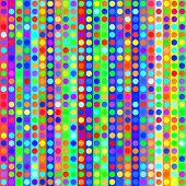 Vector seamless dots on stripes background