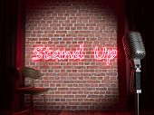 Постер, плакат: Stand up comedy stage