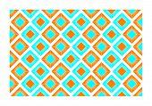 Orange And Blue Tiles - Vector Illustration