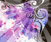 pic of transpiration  - abstract floral grunge background - JPG