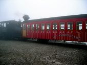 Steam Train To The Top Of Mt. Washington, Nh.