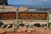 Cape of good hope signpost