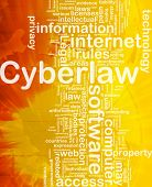 Background concept wordcloud illustration of cyberlaw international