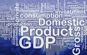 Background concept wordcloud illustration of GDP international