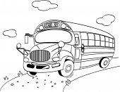 Coloring page of a  School Bus