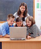 Kids Surfing The Internet