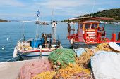 pic of epidavros  - Greek fishing boats in harbor from Epidavros - JPG