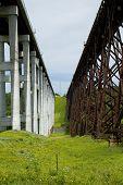 Tall Railroad Bridges poster