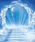 stock photo of heavens gate  - islamic fantasy - JPG