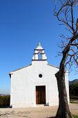 Ermita la Xara Simat de la Valldigna white mediterranean church in Valencia province Spain