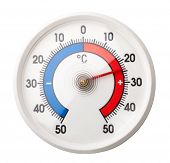 Thermometer with celsius scale showing comfortable room temperature â?? plus twenty four degree poster