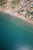 Aerial view on Zakynthos island Greece - Laganas