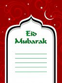 pic of eid mubarak  - vector greeting card for eid celebration - JPG