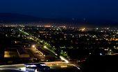 Постер, плакат: Панорамный вид ночной город Мукачево