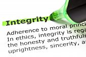 stock photo of integrity  - The word  - JPG
