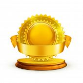 Gold award, vector