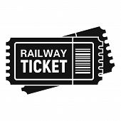 Railway Ticket Icon. Simple Illustration Of Railway Ticket Vector Icon For Web Design Isolated On Wh poster