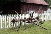 Antique agricultural equipment