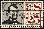 Stamp Image Of President Abraham Lincoln