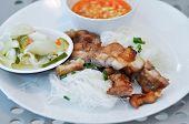 Noodle ,vietnamese Noodles Or Plain Vietnamese Noodles With Dip poster
