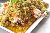 Fried shrimp with curry powder