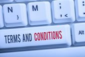 Text Sign Showing Terms And Conditions. Conceptual Photo Rules That Apply To Fulfilling A Particular poster
