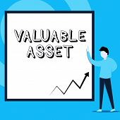 Conceptual Hand Writing Showing Valuable Asset. Business Photo Text Your Most Valuable Asset Is Your poster