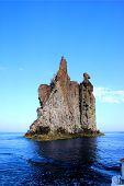 Rock In Stromboli Island