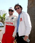 LOS ANGELES - APR 14:  Brody Jenner, Bruce Jenner at the 2012 Toyota Pro/Celeb Race at Long Beach Gr