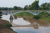 Bridge Over Stung Sangke River In Battambang, Cambodia