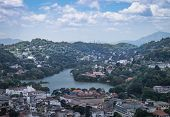 Kandy City Aerial Panoramic View From Bahirawakanda Sri Maha Bodhi Temple. The Temple Is At A Very H poster