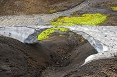 Snow Arch On The Mountain Route Landmannalaugar, Iceland poster
