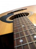 abstrakte Makro Ansicht der Akustik-Gitarre