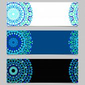 Gravel Mandala Banner Background Set - Abstract Vector Design Elements With Colorful Mandalas poster